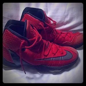 Nike Red LeBron Kicks